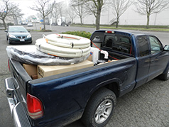 Power Pak hot tub in pickup truck