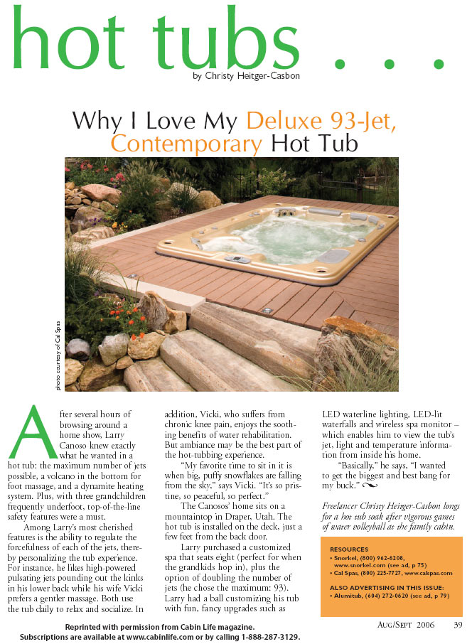 Why I love my Deluxe 93-Jet Contemporary Hot Tub