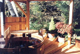 Hot tub on sun deck