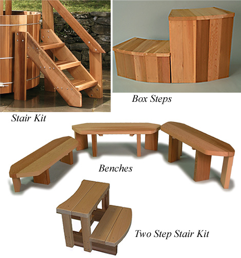 Stairs, Benches, Step Staris and Shelves