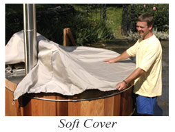 wood hot tub soft cover